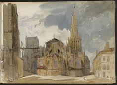 Adrien Dauzats | Vue de la cathédrale de Bordeaux | Images d'Art