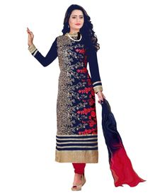 Khazanakart fashion blue designer dress materials for women and bollywood dress materials or partywear dresses Panjabi Suit, Salwar Suits Simple, Girly Images, Salwar Suits Pakistani, Salwar Suits Party Wear, Suits Online Shopping, Bollywood Dress, Anarkali Dress, Indian Fashion