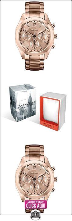 Caravelle New York 44L115 - Reloj analógico de cuarzo para mujeres, correa de acero inoxidable, color oro rosa  ✿ Relojes para mujer - (Gama media/alta) ✿ ▬► Ver oferta: http://comprar.io/goto/B00J09TXFA