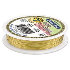 7 Strand Beadalon® .015 inch Gold Bead Wire - 30 feet