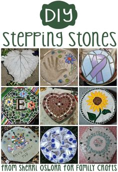 Kids Will Love Making These Personalized Garden Stepping Stones – Diy Garden Mosaic Crafts, Mosaic Projects, Mosaic Art, Stone Mosaic, Concrete Stepping Stones, Garden Stepping Stones, Concrete Steps, Homemade Stepping Stones, Stepping Stone Molds