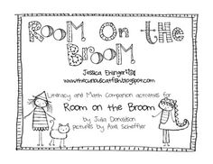 This is a math and literacy companion w/activities for the book Room on the Broom by Julia Donaldson and Axel Scheffler. Literacy activities include a rhyming word game, readers theatre with puppets, 2 writing prompts, 2 sequencing activities, 2 worksheets that include wordsearches, ABC ordering, & a maze, & 2 word building activities.   Math activities include a place value game w/recording sheet, number puzzles (counting by 1's, 2,'s, 5's, & 10's), & number word matching w/recording sheet.