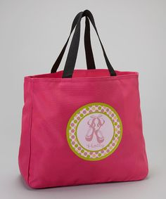 Loving this Hot Pink & Polka Dot Ballet Personalized Tote on #zulily! #zulilyfinds