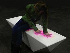 Le banc et la table design et interactifs   Décoration maison