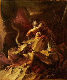 Jason Charming the Dragon (1665-70) by Salvator Rosa.