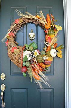 Make a Cornucopia Fall Wreath