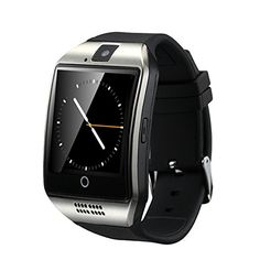 Efanr Q18 Bluetooth Smart Wrist Watch Smartwatch WristWatch Phone Mate Pedometer Fitness Activity Tracker Wristband NFC with Camera SIM TF Card Slot for Android Smartphones (Silver) >>> You can get additional details at the image link.