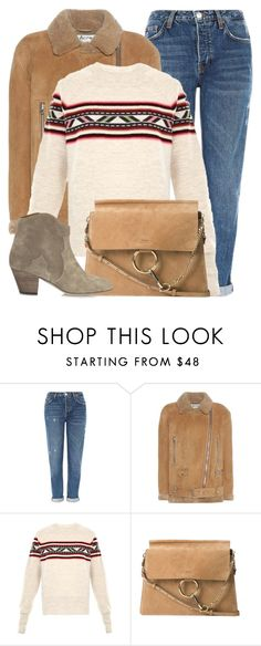 """Forest Walk"" by monmondefou ❤ liked on Polyvore featuring Topshop, Acne Studios, Isabel Marant, Chloé, brown and beige"