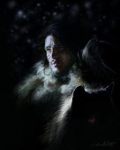 Ania Mitura DalisaAnja deviantart ilustrações fantasia sombria Game of Thrones - Jon Snow