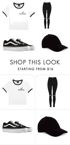 """Contest"" by peyton03m ❤ liked on Polyvore featuring Topshop and Vans"