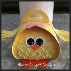 Easter treat box ... little chick .. Stampin' Up! ... cute!!