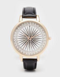 ASOS Compass Print Watch
