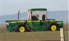 A party is not complete without decorations and everyone needs a yard display like this! Nothing like a JOHN DEERE Tractor Hay Bale!