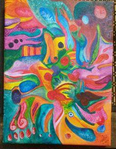 Acrílicos y muchos colores