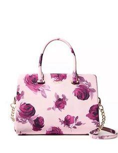 Kate Spade Emerson Place Roses Olivera Plum Dawn Leather Satchel Handbag for sale online Luxury Handbags, Fashion Handbags, Purses And Handbags, Fashion Bags, Gucci Handbags, Designer Handbags, Cheap Handbags, Fashion Accessories, Sac Kate Spade