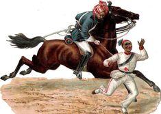 Oblaten Glanzbild scrap die cut chromo Arab Pferd horse  16,5 cm  Kampf fight at.picclick.com