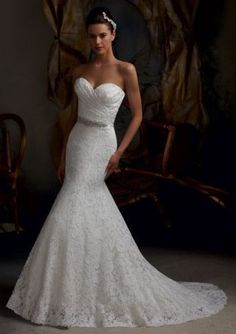 Sweetheart Lace Mermaid Bridal Gown Fishtail wedding Dresses New stock | eBay