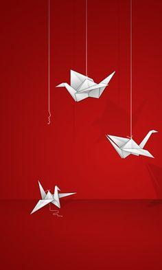 Red Flight Origami