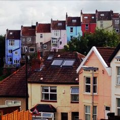 Another view of houses in Totterdown! Bristol Houses, North Somerset, Great Britain, England, Europe, Earth, Cabin, London, Mansions