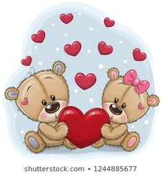 Illustration about Cute Teddy Bears with heart on a blue background. Illustration of adorable, letter, illustrations - 132994082 Teddy Bear With Heart, Buy Teddy Bear, Knitted Teddy Bear, Teddy Bear Toys, Love Bear, Cute Teddy Bears, Tatty Teddy, Cute Cartoon Animals, Bear Cartoon
