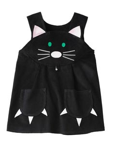 Girls Halloween cat dress costume , baby dress, toddler girls dress,pinafore dress pretend play - Etsy の Black cat dress up costume. by wildthingsdresses - ? Cat Dresses, Little Dresses, Girls Dresses, Dress Up Costumes, Baby Costumes, Costume Chat, Fashion Kids, Fantasias Up, Little Girl Halloween