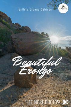 Das Erongo Gebirge ist eine wunderbare Region in Namibia. Steinig, aber wunderschön. Wir widmen Erongo eine eigene Fotogalerie. Namibia, More Photos, Journey, Gallery, Movies, Movie Posters, Photos, Mountain Range, Beautiful Places