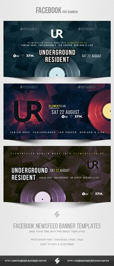 Electronic Music Party vol.28 - #Facebook Post Banner Templates - #Social Media #Web Elements Download here:   https://graphicriver.net/item/electronic-music-party-vol28-facebook-post-banner-templates/20469241?ref=alena994