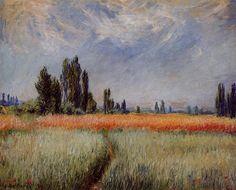 Acheter Tableau 'le blé terrain' de Claude Monet - Achat d'une reproduction sur toile peinte à la main , Reproduction peinture, copie de tableau, reproduction d'oeuvres d'art sur toile