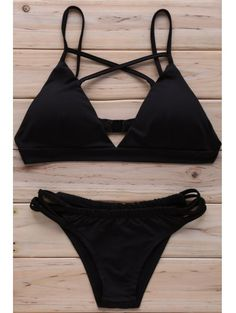 SHARE & Get it FREE | Solid Color Cross Halter Bikini Set - BlackFor Fashion Lovers only:80,000+ Items • New Arrivals Daily Join Zaful: Get YOUR $50 NOW!