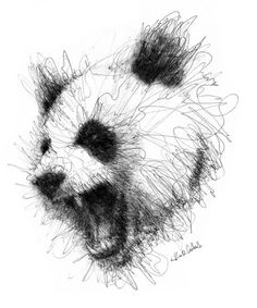 We'll bring wonderful pen stroke drawings by Italian Artist Erick Centeno forward to you. These sketches are truly remarkable. Art in any form is art that Animal Sketches, Art Drawings Sketches, Animal Drawings, Stylo Art, Body Tattoo Design, Tattoo Designs, Scribble Art, Panda Art, Art Sculpture
