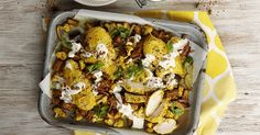 If you're looking for a different spin on your standard roast try this recipe for turmeric and yogurt roasted chicken served with cauliflower and eggplant. Ww Recipes, Chicken Recipes, Cooking Recipes, Healthy Recipes, Recipies, Roasted Chicken, Dinner Tonight, Turmeric, Healthy Eating