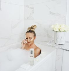 My favorite way to relax after a long day of house hunting!With the help of this #MiracleWater,I've been trying to not let the stress of the home search show in my skin. I'm halfway through my #onebottleawayfrom journey with @SKII'sFacial Treatment Essenceand my skin is looking visibly brighter and more radiant! I've been vlogging the process, so you'll see the 🏠 search soon! #skiipartner #skincare ps- thank you Cody for being the best Instagram husband 😂
