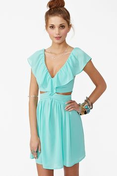 Adorable Minty Summer Dress