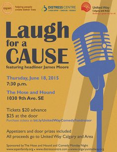 join us on june 18 at the historic hose and hound pub for laugh for a cause a comedy fundraiser in support of united way of calgary and area
