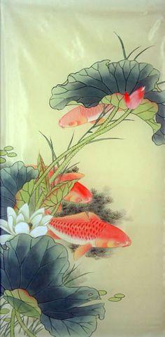 Pescados de Koi, 50cm x 100cm (19〃 x 39〃), 2313011-z
