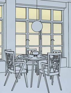 Patrick Caulfield Interior with Fondue Pan - Pictify - your social art network