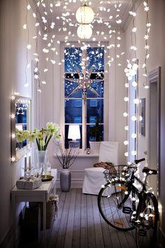 Iluminación recibidor navidad
