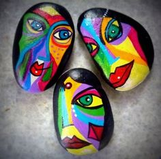 Colorful Painted Rock Faces