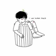 """I'm just trash """" aesthetic """" Credence Barebone, Desu Desu, Doodles, Illustration, Aesthetic Art, Aesthetic Drawings, Anime Boys, Drawing Reference, Cute Drawings"""