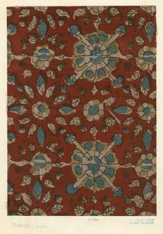Textile pattern, India