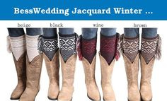 BessWedding Jacquard Winter Knitted Boot Cuffs Leg Warmers Christmas Socks 4Pairs. Are you ready for your new favorite accessory? Introducing the stylish upgrade to the 80's Flashdance Leg warmers.Leg Warmers are designed with a pointelle knit, and girly details of ivory knit crochet lace trim, these precious designs can't get any sweeter. Soft and cozy to layer over tights, or ideal to wear alone with her cutest shoes, she'll be comfy in her leg warmers all year long. You can even stash...