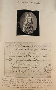 A portrait of the Old Pretender, James Francis Stuart, from 1722.