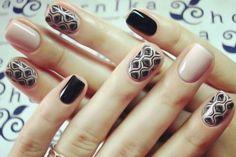 Trendy Nails with Beautiful Designs 2017 Stamping Nail Art, Gel Nail Art, Nail Manicure, Diy Nails, Nude Nails, Trendy Nails, Nails Inspiration, Beauty Nails, Hair And Nails