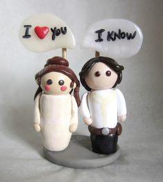 """Star Wars Figure Leia and Han Solo """"I love you I know"""""""