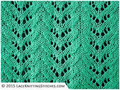 Lace Knititng. Chart # 4. Easy to follow and suitable for beginners.