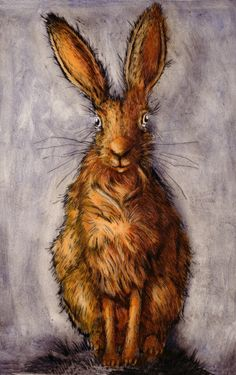 Mr Hare. Drypoint by ianmacculloch.com