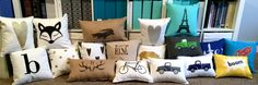 Cute DIY Pillows, with so many fun downloadable designs...
