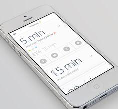 MetroLite App by Alex S. Lakas, via Behance