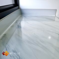 Grey mixed with subtle black marble veins design refurbishing this homeowner's kitchen countertop. Metallic Epoxy Singapore coatings are practical, and aesthetically pleasing. Drop us a message Epoxy Countertop, Kitchen Countertops, Black Marble, Singapore, Kitchen Remodel, Tile Floor, Metallic, Farmhouse, Design Ideas