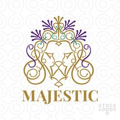 Logo attractive and elegant ornamental forms that create a lion's head. Their…